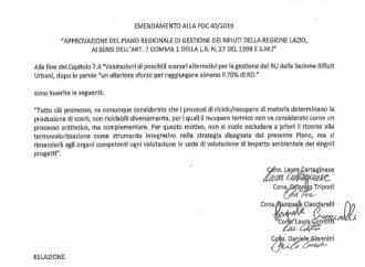 UN EMENDAMENTO DELLA LEGA FAVOREVOLE AGLI INCENERITORI. PROTESTA FRATELLI D'ITALIA.