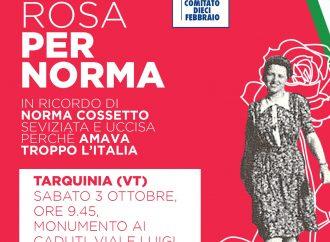 ANCHE QUEST'ANNO TARQUINIA RICORDA NORMA COSSETTO