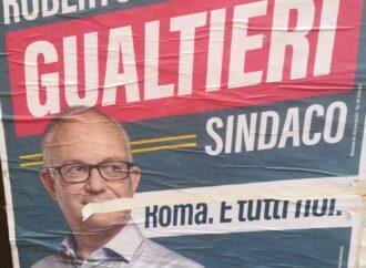 A Tarquinia affissi i manifesti elettorali di un candidato Sindaco…a Roma